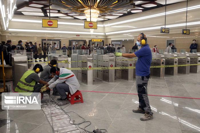 تصاویر/ افتتاح بزرگترین ایستگاه مترو پایتخت
