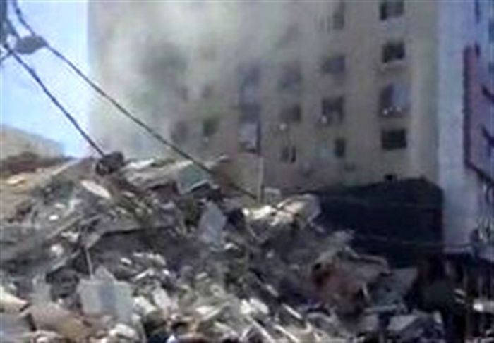 اسرائیل برج  «اندلس» را بمباران کرد