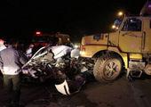 تصادف مرگبار قطار و کامیون در قزوین