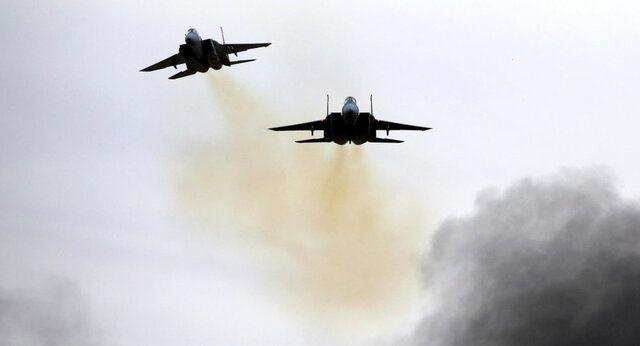 پرواز جنگندههای اسرائیلی بر فراز بیروت