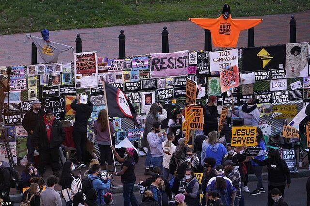 تجمع خشونت آمیز مقابل کاخ سفید+عکس