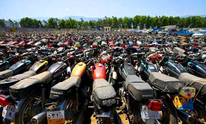 ترخیص موتورسیکلت های رسوبی در شرق تهران + جزئیات