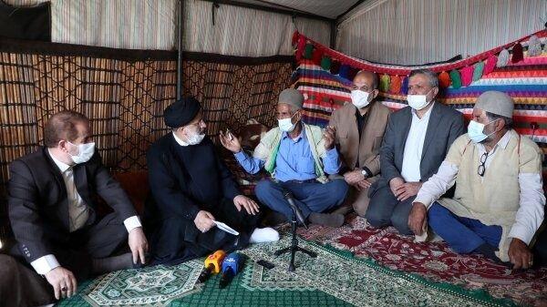 حضور رئیس جمهور در جمع عشایر بویر احمدی