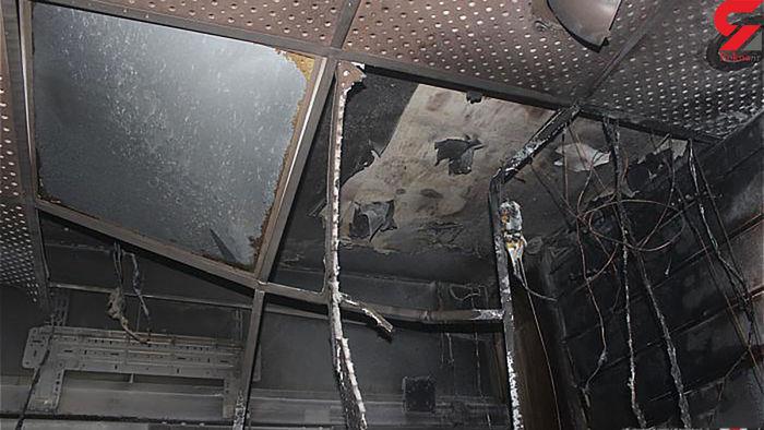 آتش سوزی وحشتناک در بازار بزرگ تهران + تصاویر