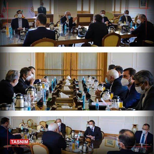 رافائل گروسی با ظریف دیدار و گفتگو کرد