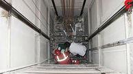 مردی که به خاطر سقوط آسانسور له شد!