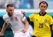 خطای وحشتناک بازیکن سوئد روی بازیکن اوکراین / فیلم
