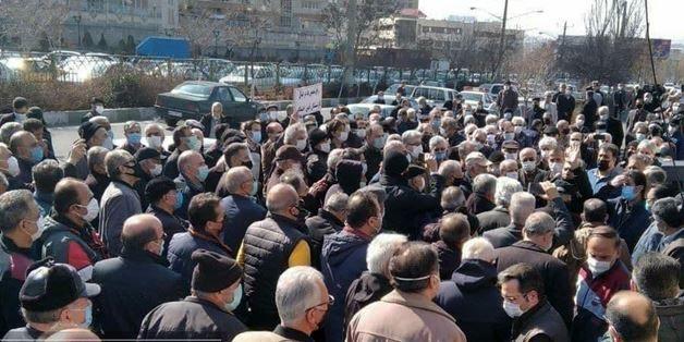 تجمع بازنشستگان کارگری در شهر های مختلف