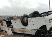 اعزام سه تیم امداد به محل حادثه واژگونی اتوبوس خبرنگاران