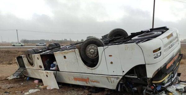 اسامی فوتی های حادثه واژگونی اتوبوس خبرنگاران اعلام شد