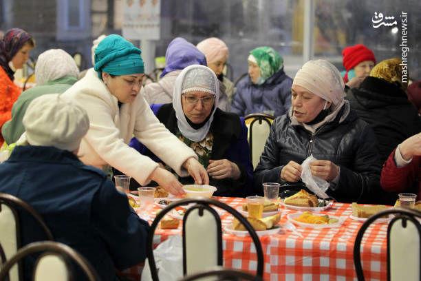 مراسم افطاری در روسیه + عکس