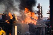 آتش سوزی مرگبار در پالایشگاه تهران