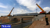 افتتاح پل روگذر خط راه آهن فولاد سبا