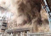 آتش سوزی یک مدرسه در اهواز + عکس