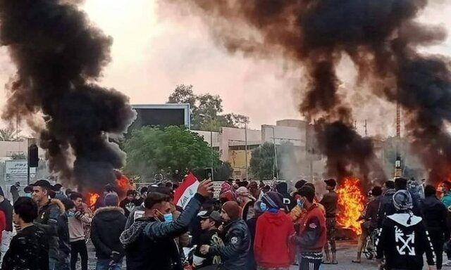 اعتراضات در نجف به درگیری کشیده شد