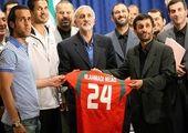 خوش و بش علی کریمی و حاج صفی در انتخابات