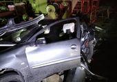 تصادف دلخراش سمند با تیر چراغ برق +عکس