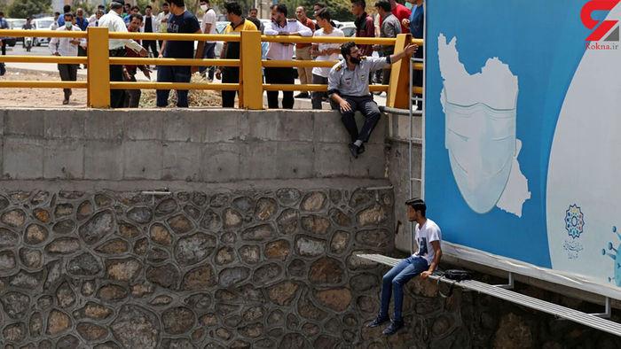 عکس از لحظه خودکشی جوان یزدی