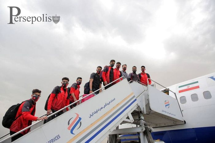 پرسپولیس در نیمه شب تهران به گوآ رسید