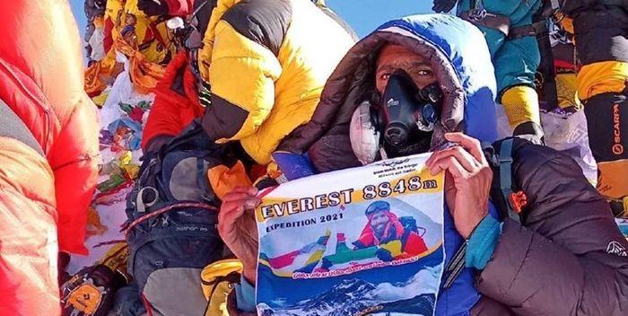 فاتح ایرانی قله اورست کرونا گرفت