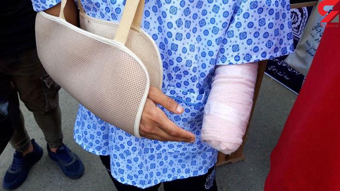 اراذل دست جوان ۱۸ ساله را قطع کردند! / عکس
